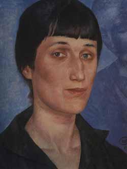 Анна Андреевна Ахматова. Портрет 1922 года. Автор Кузьма Петров-Водкин.