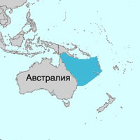 Коралловое море на карте