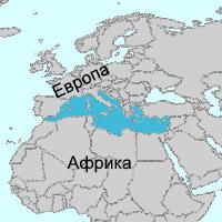 Средиземное море на карте