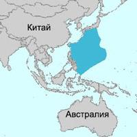 Филиппинское море на карте