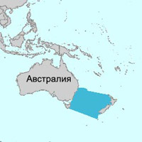 Тасманово море на карте