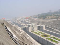 Самая большая ГЭС в мире. ГЭС Санься. Саньдоупин. Китай.
