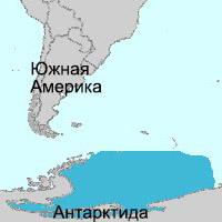 Море Уэдделла на карте